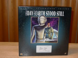 Day The Earth Stood Still Laserdisc Box Robert Wise Signed