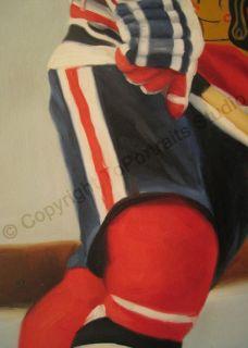 Bobby Hull Chicago Blackhawks NHL Canvas Oil Painting