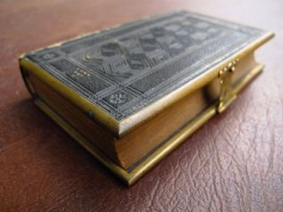 American Minature Leather Common Prayer Book Brass Clasps Edges