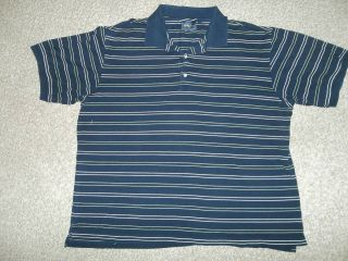 BOBBY JONES PLAYERS SHORT SLEEVE SHIRT L LARGE GOLF POLO NAVY BLUE