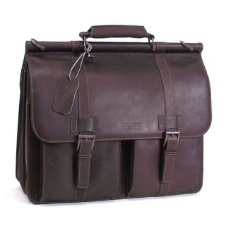 Kenneth Cole Leather Dowel Rod Portfolio Computer Case