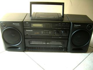 Panasonic Stereo Boombox Am FM Radio Cassette CD Player Ghetto Blaster