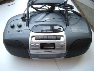 Aiwa CSD ED20U CD Cassette Radio Player Boombox as Is
