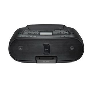 Sony ZSS21P Black Boombox CD iPod Dock w Remote