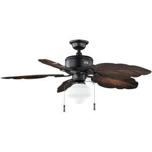 Hampton Bay Nassau 52 Ceiling Fan 5 Leaf Shaped Blades 3 Speed 1