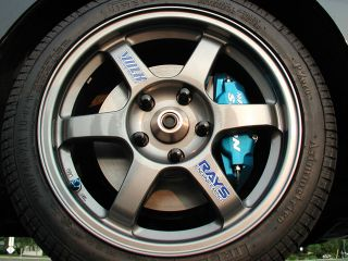 Volk & Rays Engineering Wheel Stickers Decal for TE37   FULL SET OF 8