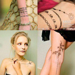 Sexy Fashion Ladies Body Art Temporary Tattoo Sticker