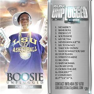 Lil Boosie Unplugged Platinum Hip Hop Rap Mixtape Mix CD