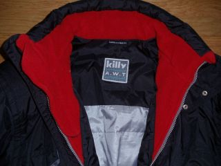 Kily A W T Full Body Snow Ski Jacket Black Red Mens Medium France