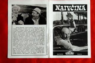 Sucker French de Funes Bourvil 1965 EXYU Movie Program
