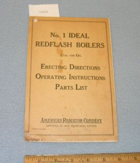 1936 No. 1 American Radiator Ideal Redflash Boilers Instructions Coal