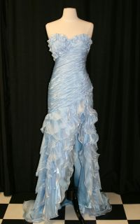 2012 Alyce Designs 6698 Lt Blue Pageant Formal Gown Prom Dress Size 4