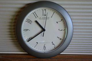 Retro Atomic Wall Clock La Crosse Technology 10 Silver Model WT 3101