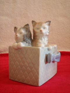 1988 NAO By LLADRO Hand Made In SPAIN Porcelain Figurine KITTY CATS IN