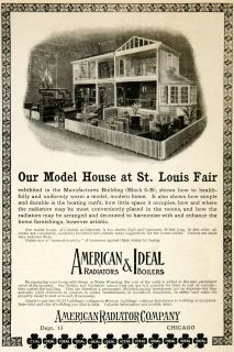 1904 Ad American Radiators Ideal Boilers Model Home Chicago