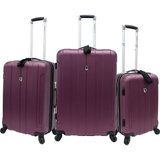 Travelers Choice Cambridge 3 Piece Hardshell Spinner 3 Colors