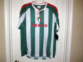 Mitre Mexico Striped Soccer Crew Shirt Jersey $45 New with Tags Size