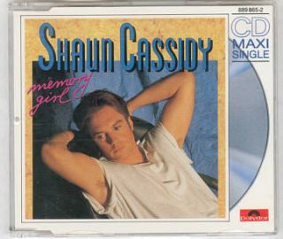 Shaun Cassidy Memory Girl CD Single C 1989 Bolland