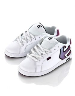 Kids Girls White Leather Skate Shoes Sneakers All Sizes $65
