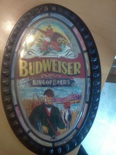 VINTAGE BUDWEISER KING OF BEERS BEER SIGN MINT CONDITION 12 TALL