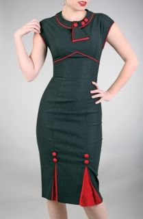 Stop Staring Black and Red 1930s Bombshell Dress Pinup Deco Vintage