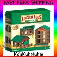 Lincoln Logs Boulder Creek Town Building Set 240 PC The Original All