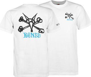 Powell Peralta T Shirt Bones Brigade Rat Bones Tee Shirt White XL