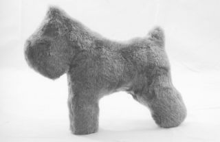 bouvier des flandres plush dog toy for your dog gray