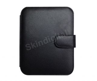 For Nook Simple Touch Black Genuine Leather Case Cover