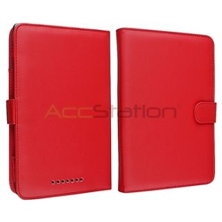 For Nook 1st Edition Red Slim Soft Slim Leather Book Case Cover Pouch