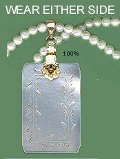 Antique Chinese Mother Pearl Gaming Chip Pendant V Fine Squr