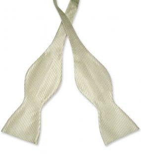 Antonio Ricci Self Tie Bow Tie Solid Olive Green Color Mens Bowtie