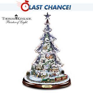 Bradford Exchange Thomas Kinkade Let It Snow Animated and Musical