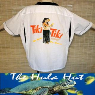 Hawaiian Hula Girl Wahini Tiki Tiki Bowling Shirt XXL