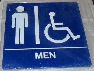 Restroom Sign Men Handicapped Braille