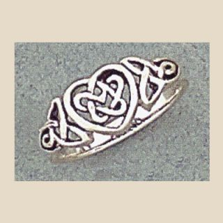 sterling silver celtic heart knot ring sizes 3 9 ring measures 8mm at