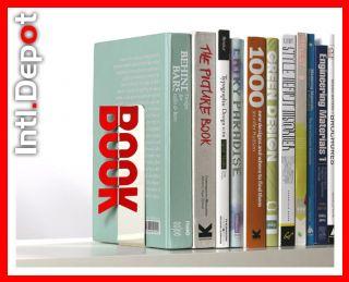 Bookends Bookshelf Holder Book End Shelf Stainless Still Metal