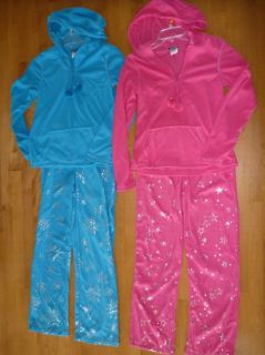 Joe Boxer Women 2 PC Fleece Pajamas PJs Set Size Small 2 4 Blue Pink