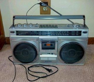 Sanyo M 9935K BoomBoxes Ghettoblaster Portable Stereo Radio Cassette