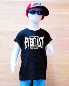 Kids Everlast Boxing Black T Shirt Short Sleeve Size 6 Age 6 7 Year