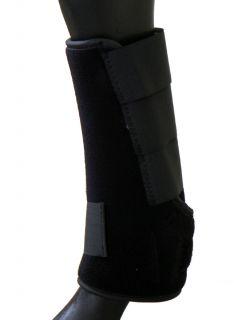 Horse Neoprene Sport Medicine Boots Black Medium
