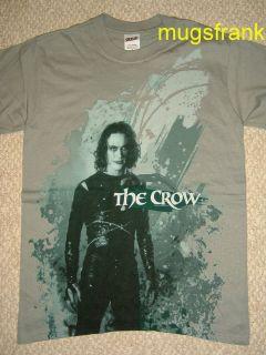 New The Crow Movie Brandon Lee Standing Gray T Shirt