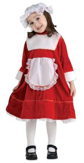 Adorable Childs Mrs Claus Christmas Costume Outfit Dress Small Medium
