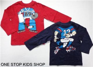 FOOTBALL or HOCKEY PLAYER Boys 2T 3T 4T Tee COSTUME SHIRT Top Sports