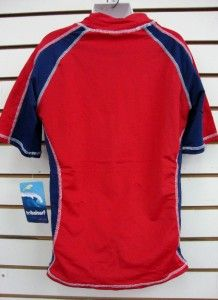boys spf 50 surf shirt rash guard short sleeve small thru xl rgcps red
