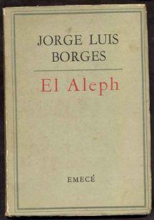 Jorge Luis Borges Book El Aleph 1961 Emece L@@K