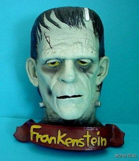 Frankenstein Boris Karloff Bust Wall Hanger Illusive Concepts 1996