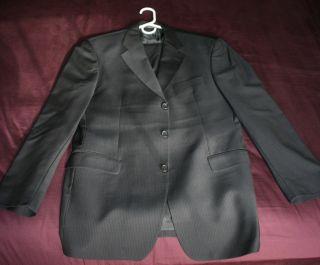 Boss Hugo Boss Black with Brown Pinstripe 3Btn Suit 40R