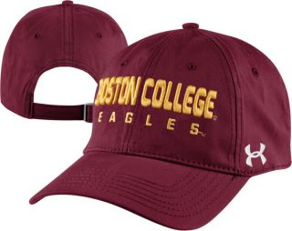 Boston College Eagles Maroon Under Armour Charged Cotton Adjustable