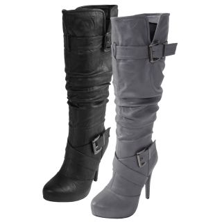 Journee Collection Womens Katherine 2 High Heel Strappy Boot